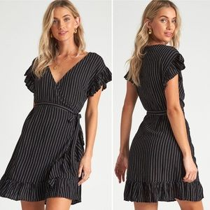 Billabong Black Wrap Dress